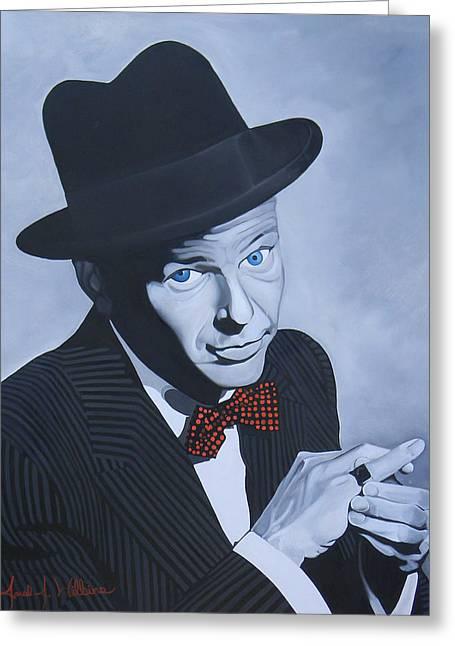 Frank Sinatra Greeting Card by Jared Wilkins