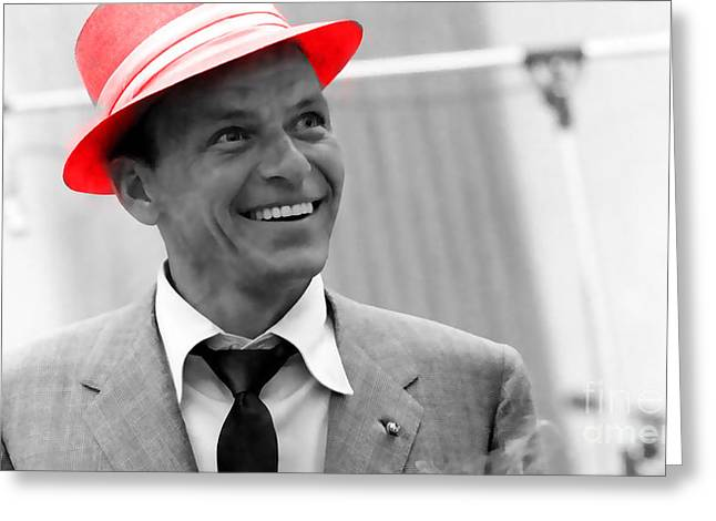 Frank Sinatra Greeting Card by Marvin Blaine
