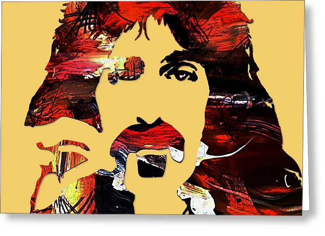 Frank Zappa Collection Greeting Card by Marvin Blaine