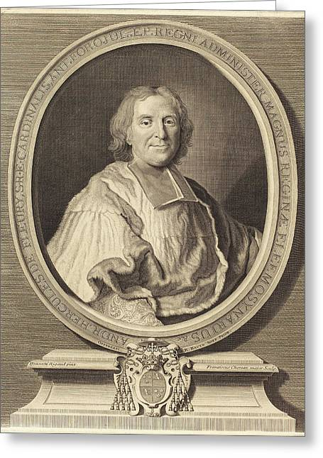 François Chereau I After Hyacinthe Rigaud French Greeting Card by Quint Lox