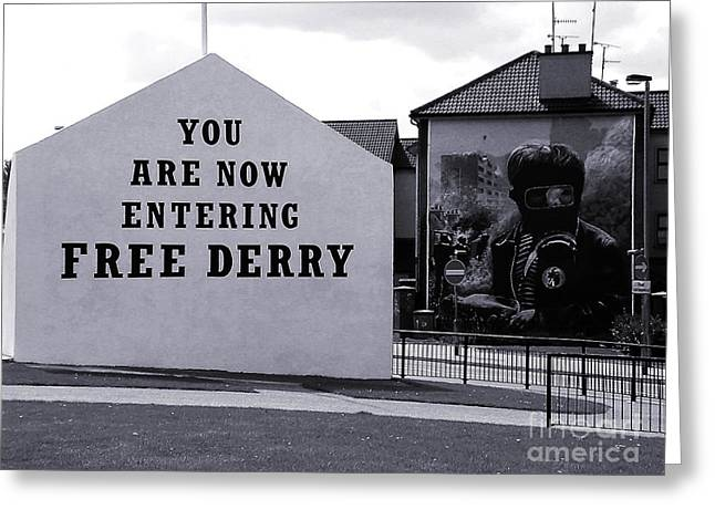 Free Derry Corner 7 Greeting Card