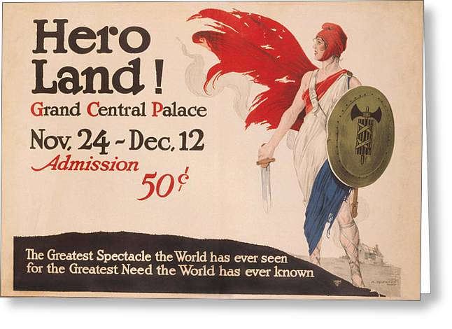 French Hero Land Poster Greeting Card by Underwood Archives