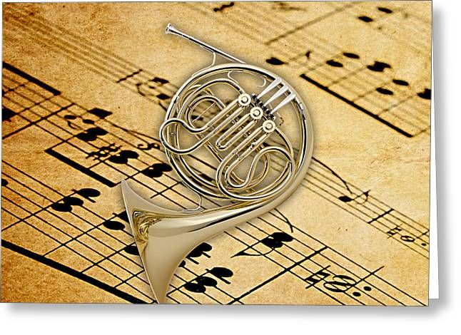 French Horn Collection Greeting Card