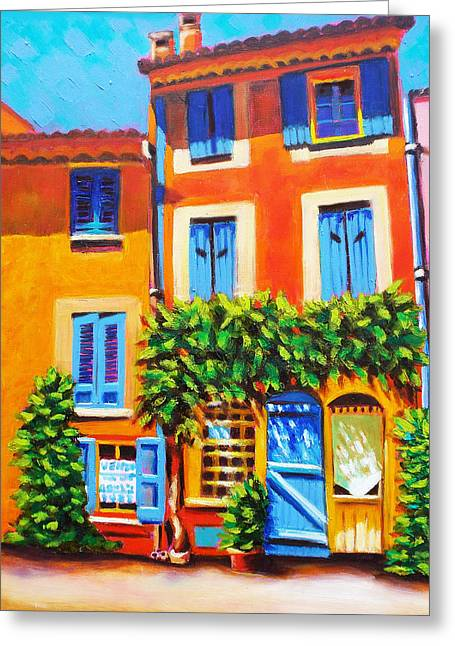 French Real Estate Greeting Card