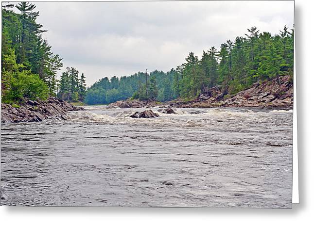 Greeting Card featuring the photograph French River Ontario Canada by Marek Poplawski