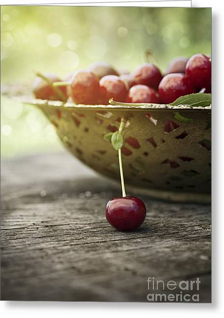 Fresh Cherry Greeting Card