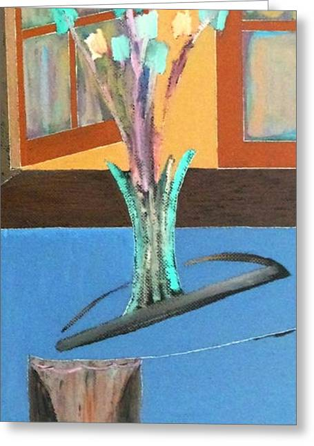 Greeting Card featuring the painting Fresh Flowers by Bill OConnor