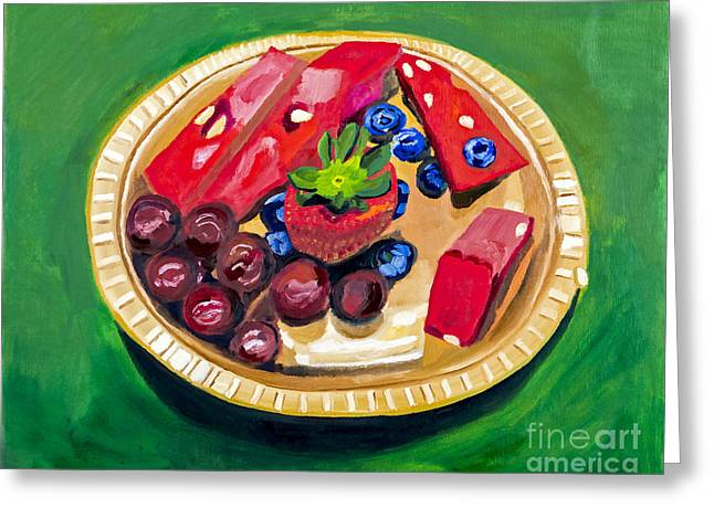 Fresh Fruit By Rachel Sobota Greeting Card by Sheldon Kralstein