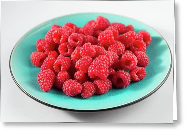 Fresh Raspberries Greeting Card by Aberration Films Ltd