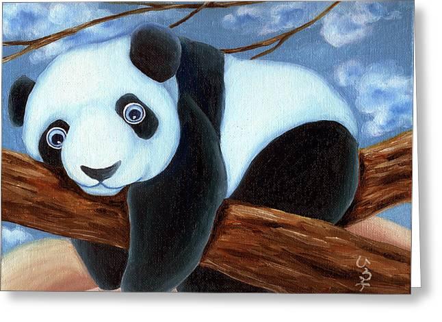 From Okin The Panda Illustration 7 Greeting Card by Hiroko Sakai