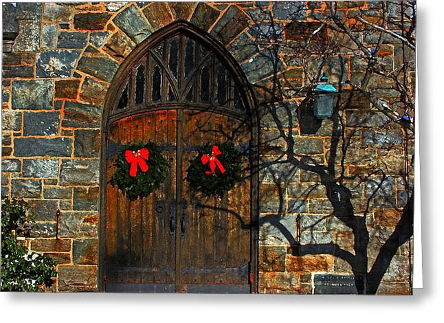 Front Door To Baldwin Memorial United Methodis Greeting Card