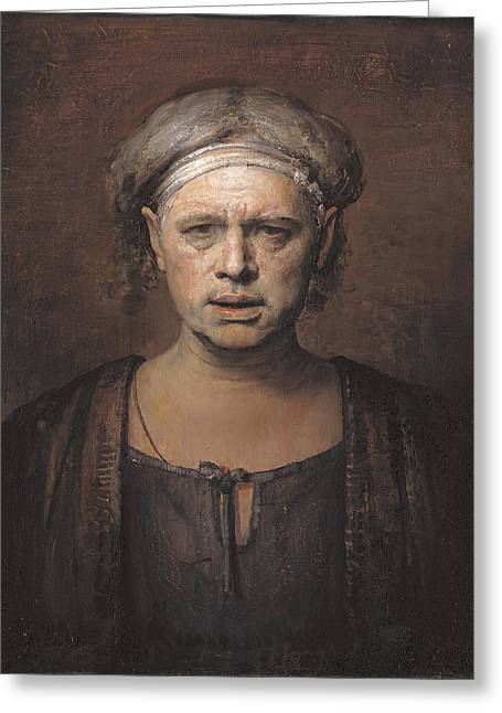 Frontal Greeting Card by Odd Nerdrum