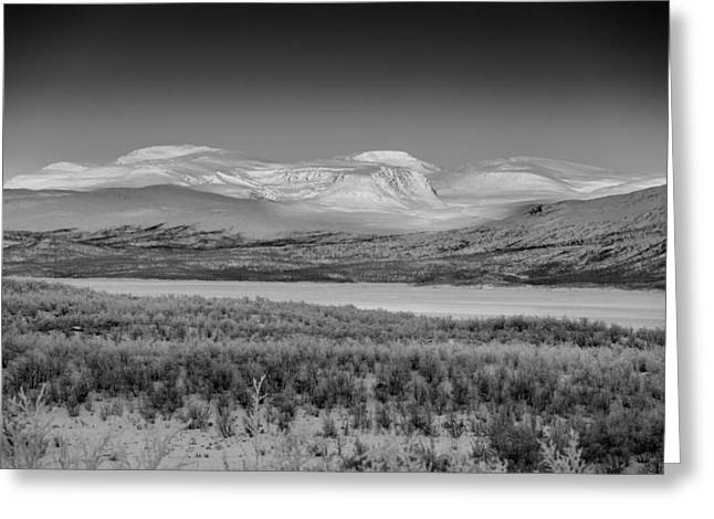 Frozen Landscape, Cold Temperatures Greeting Card