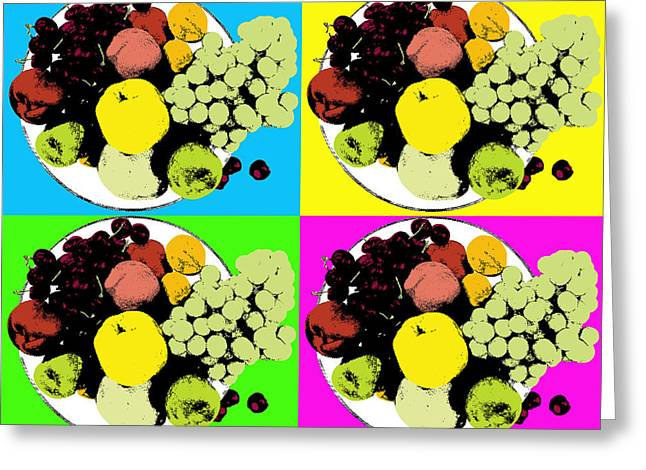 Fruit Bowl Greeting Card by Alexey Stiop