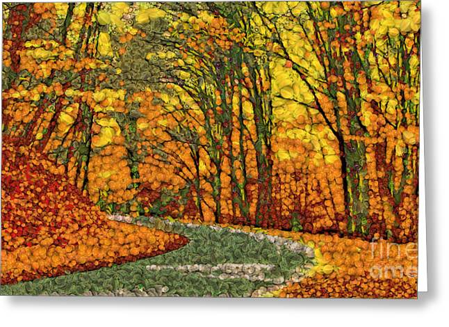 Fruits And Vegetables Forest Greeting Card by Odon Czintos