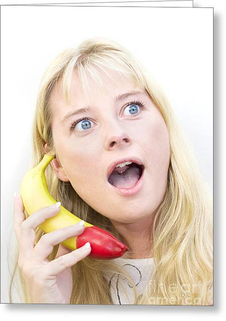Fruity Caller Greeting Card by Jorgo Photography - Wall Art Gallery