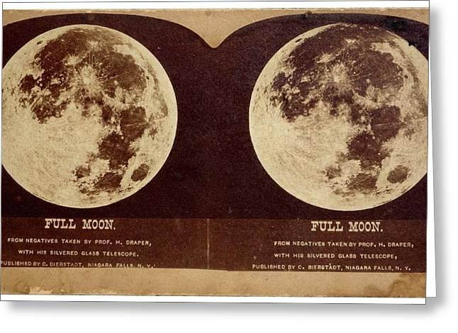 Full Moon Greeting Card by Detlev Van Ravenswaay