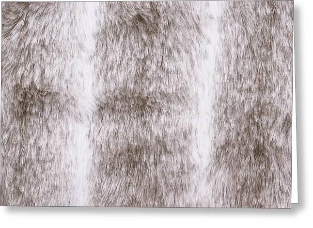 Fur Background Greeting Card