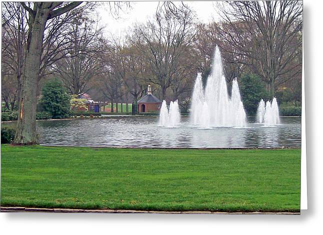 Furman Fountain Greeting Card by Larry Bishop