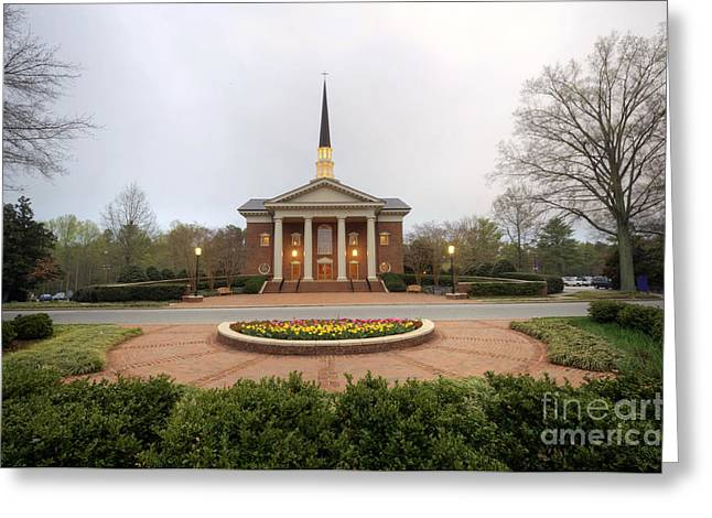 Furman University Charles Daniel Chapel   Greenville Sc Greeting Card