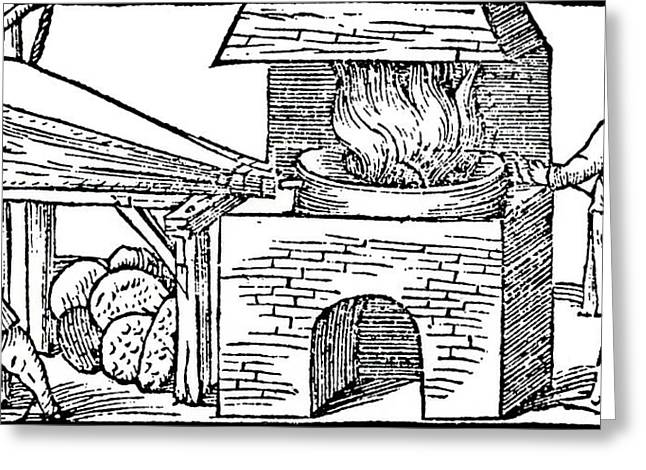 Furnace For Refining Copper Greeting Card by Universal History Archive/uig