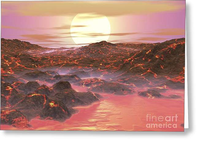 Future Earth, Artwork Greeting Card by Walter Myers