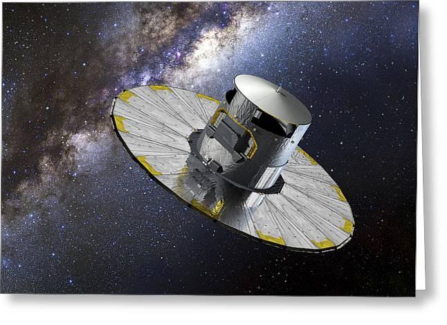 Gaia Satellite Greeting Card