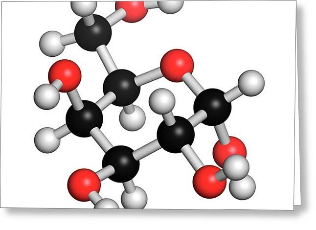Galactose Sugar Molecule Greeting Card