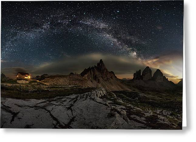 Galaxy Dolomites Greeting Card