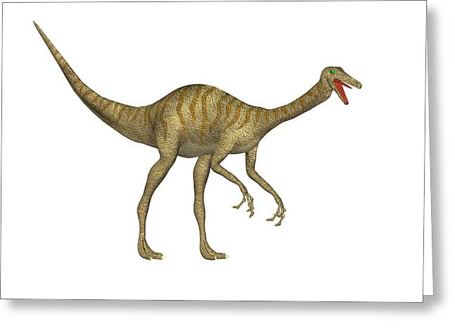 Gallimimus Dinosaur Greeting Card