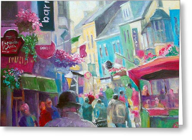 Greeting Card featuring the painting Galway  Ireland by Paul Weerasekera