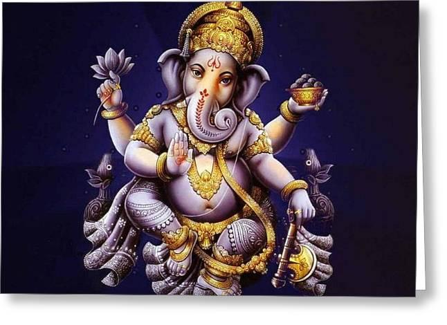 Ganesh - Ganesha - Indian Elephant  Greeting Card