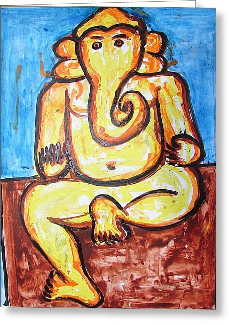 Ganesha-a4 Greeting Card by Anand Swaroop Manchiraju