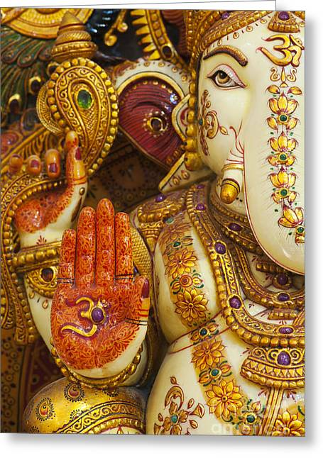 Ornate Ganesha Greeting Card by Tim Gainey