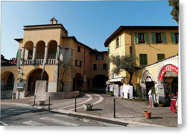 Gardone Alta, Lago Di Garda, Lombardia Greeting Card by Sergio Pitamitz