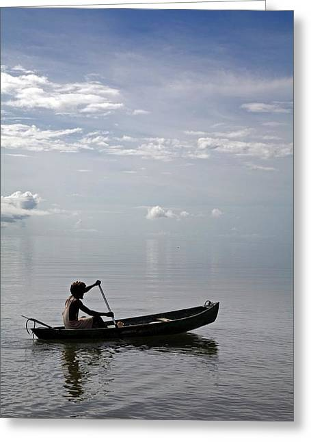 Garifuna Fisherman Greeting Card by Jim West