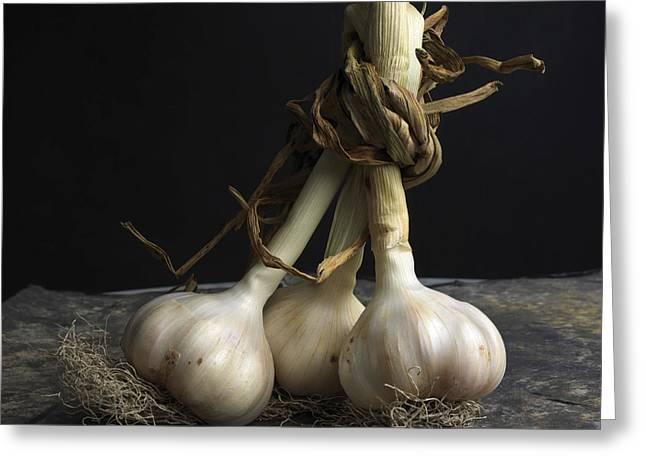 Garlic Greeting Card by Bernard Jaubert