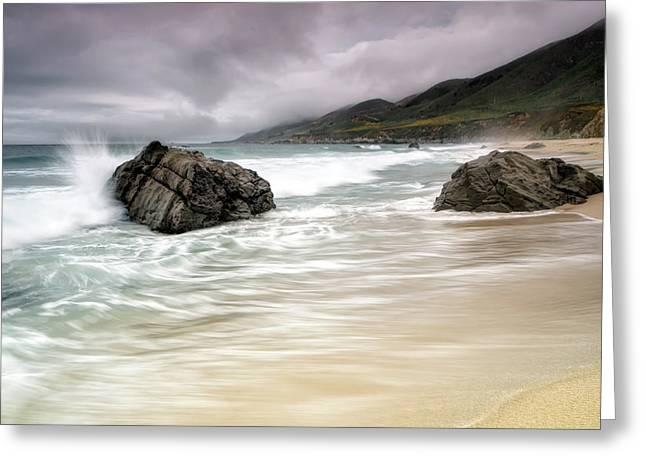 Garrapata Beach Ca Greeting Card by Chris Frost