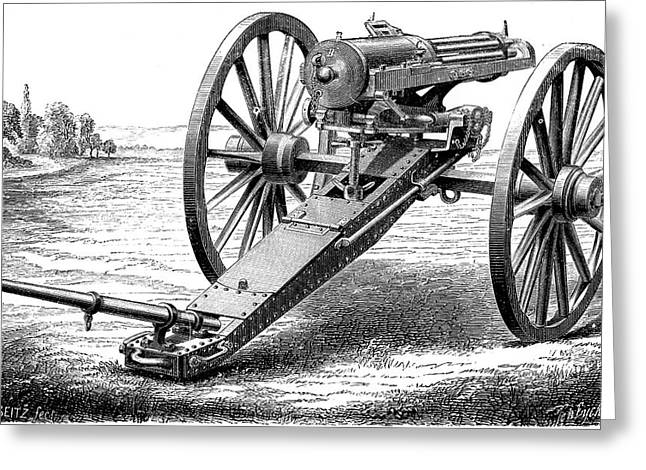 Gatling Rapid Fire Gun Greeting Card by Universal History Archive/uig