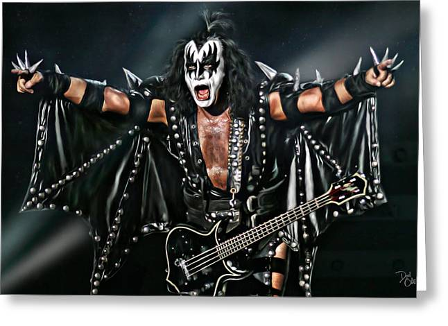 Gene Simmons Greeting Card by Don Olea