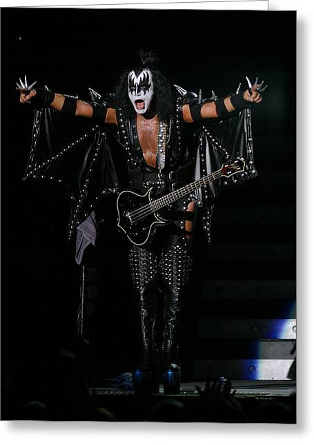 Gene Simmons - Kiss Greeting Card by Don Olea