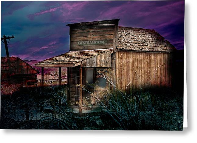 General Store Greeting Card by Gunter Nezhoda