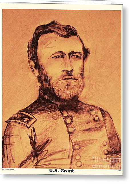Greeting Card featuring the painting General Us Grant by Eric  Schiabor