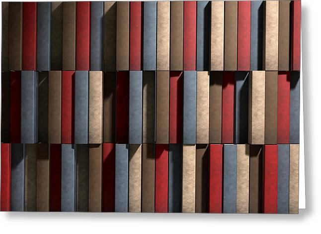 Generic Unbranded Leather Book Texture Greeting Card by Allan Swart