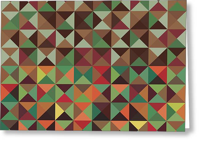 Geometric Pattern Greeting Card by Mike Taylor