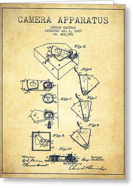 George Eastman Camera Apparatus Patent From 1889 - Vintage Greeting Card