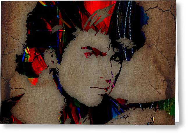 George Michael Collection Greeting Card by Marvin Blaine