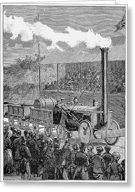 George Stephenson's 'rocket' Greeting Card by Universal History Archive/uig