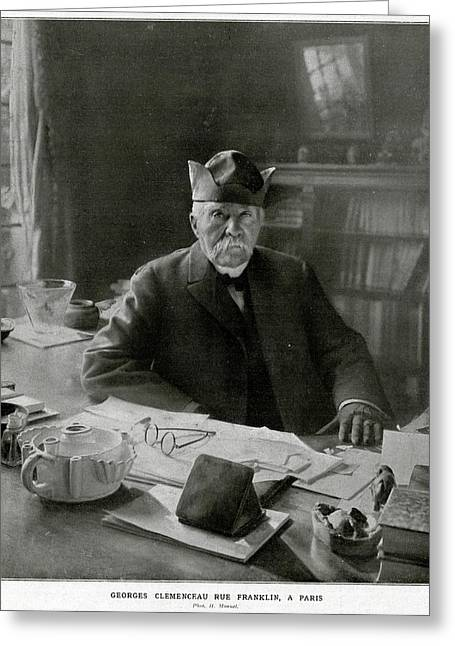 Georges Clemenceau  French Statesman Greeting Card by Mary Evans Picture Library