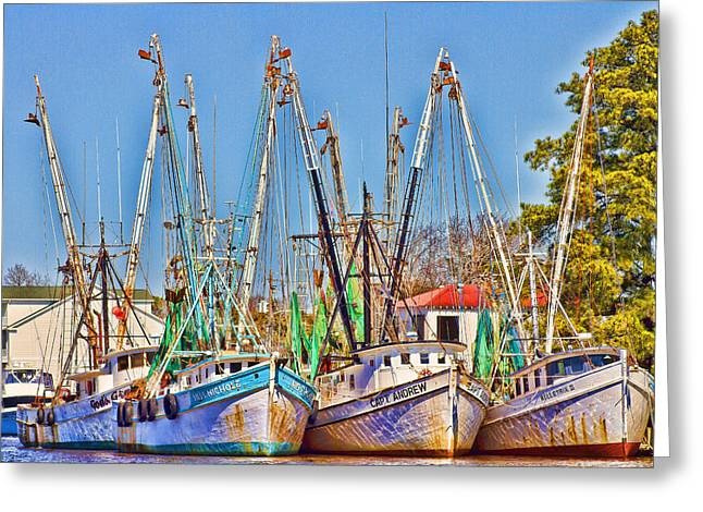 Georgetown Shrimpers Greeting Card